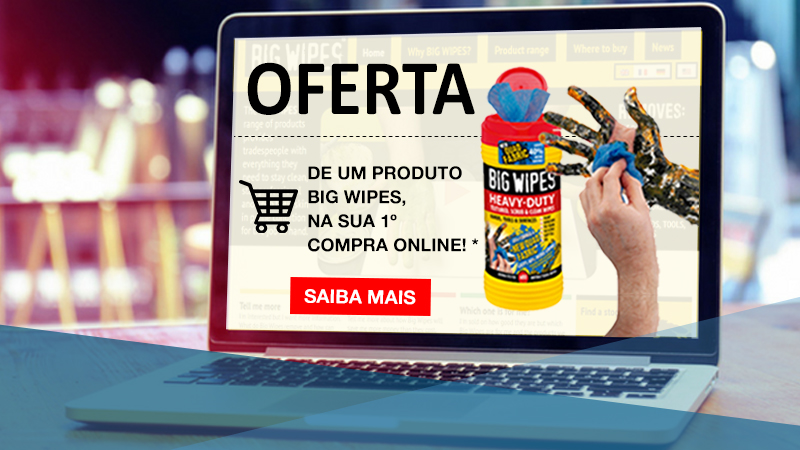 Oferta Big Wipes na 1ª Compra Online!