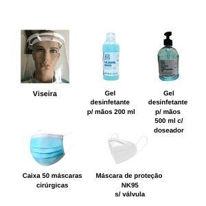 Kit Prevenção Covid-19 (Familiar 3 Pessoas)