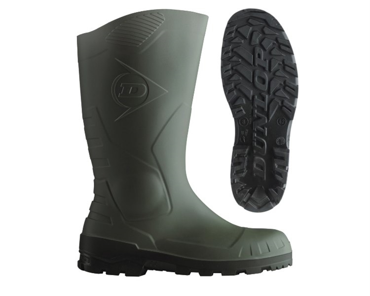Botas Dunlop Devon Full Safety H142611 (Ver/Pre)